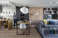 Cegła w salonie: świetny pomysł na dekorację ścian! Zdjęcia