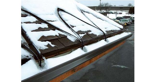 Odśnieżanie dachów - kable grzejne