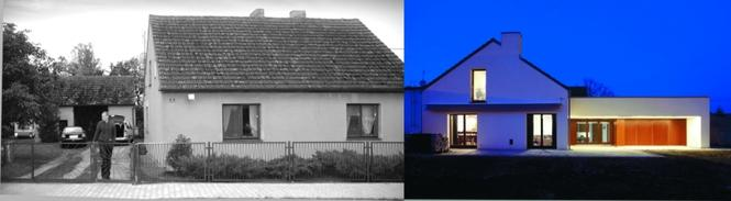 Rozbudowa domu na wsi - przed i po