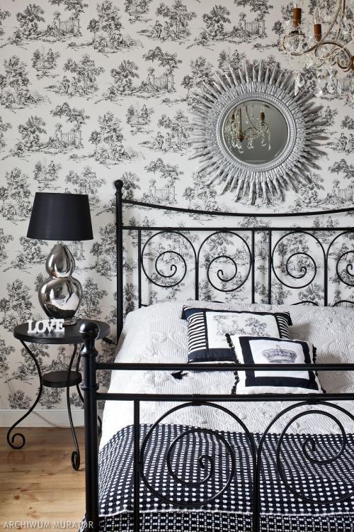 Aranżacja sypialni w stylu glamour