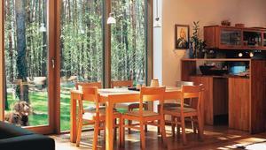 Nowoczesny dom jednorodzinny w lesie. Zobacz dom z dużymi oknami