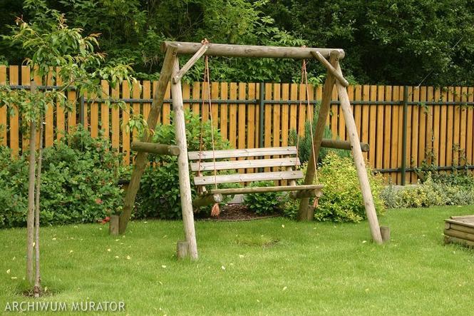 Huśtawka ogrodowa z impregnowanego drewna