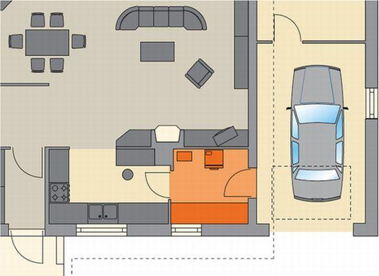 Między garażem a kuchnią Murator D09b – Dom na 102