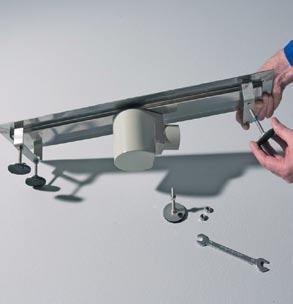 Montaż wpustu liniowego i izolacja przeciwwilgociowa