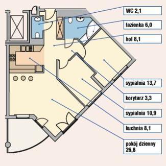 Pomysł na garderobę w 80-metrowym mieszkaniu