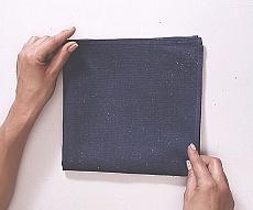 Układanie serwetek w wachlarz - krok I