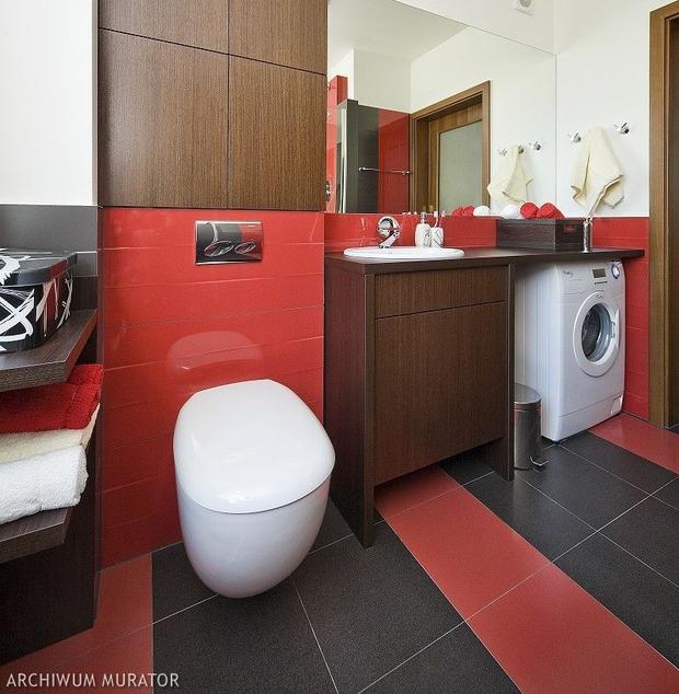 aran acja czerwonej azienki inspiracje i zdj cia ognistych azienek azienka. Black Bedroom Furniture Sets. Home Design Ideas